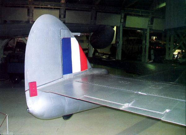 Истребитель «Вампир» F.3 в Музее Королевских ВВС в Хендоне (Великобритания)