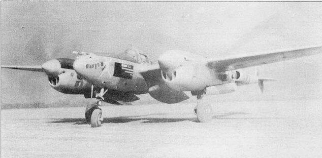 «Murph III» – P-38J из 55-й истребительной эскадрильи 20-й истребительной авиагруппы, Кингз-Клифф, Англия. На борту фюзеляжа изображены отметки о 25 боевых вылетах и трех сбитых самолетах.