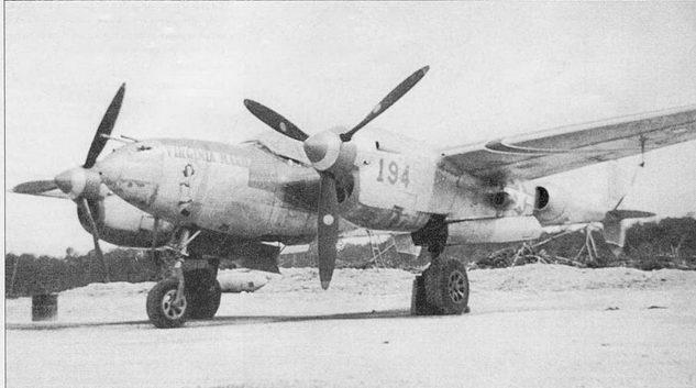 1-й лейтенант Кэрол Андерсон летал на P-38J «VIGINIA MARY» в период службы в 433-й истребительной эскадрильи 475-й истребительной авиагруппы, базировавшейся в Голландии на Новой Гвинее. Коки винтов, законцовки вертикального оперения и полосы па крыле – средне-голубые с узкой окантовкой белого цвета.