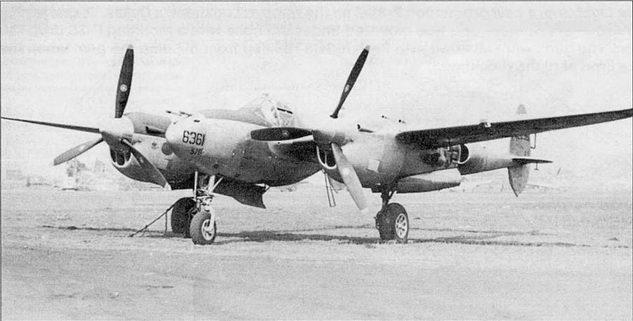 Этот P-38J использовался для испытания систем ночного «Лайтнинга» Р-38М.