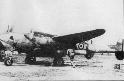F-5A-1 из GR-2/33 ВВС Свободной Франции, Ли Мерси, Тунис, 1943 г. Верхние поверхности самолета камуфлированы темно-землистой и темно-зеленой красками, низ – светло-серый.