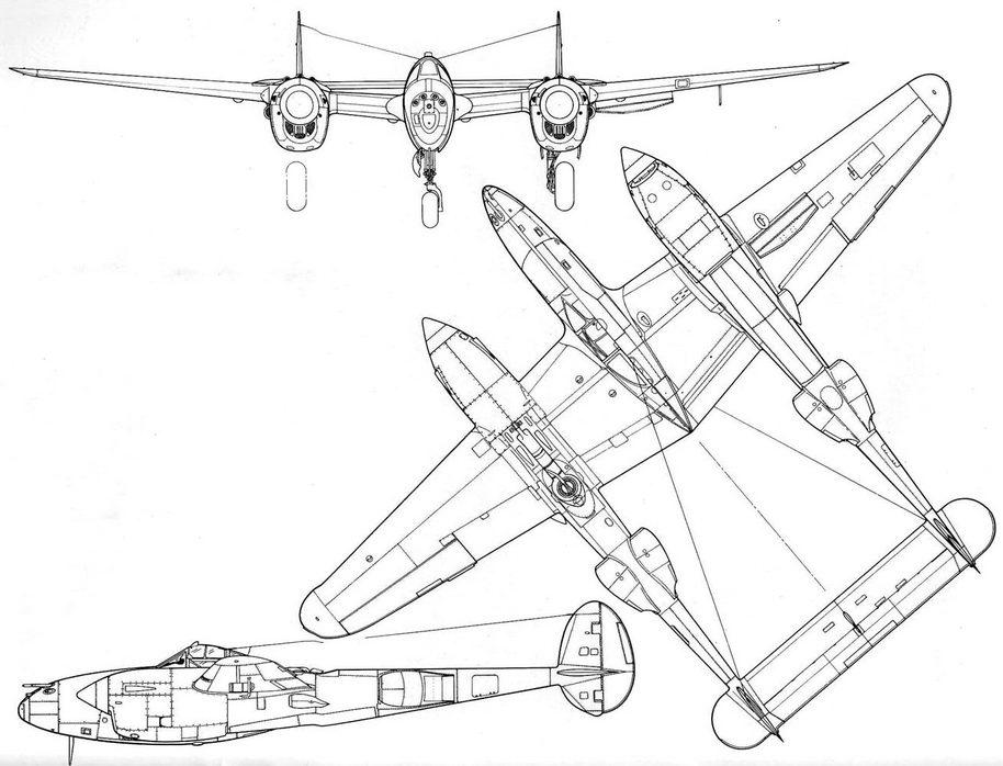 Lockheed P-38J-25 Lightning