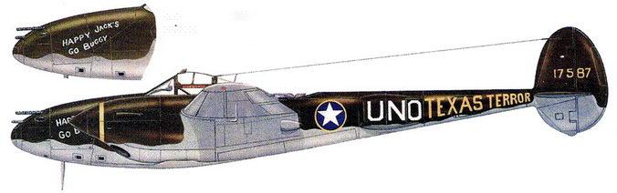 HAPPY JACK'S GO BUGGY/TEXAS TERROR – P-3SE лейтенанта Джека Ильфри из 94-й истребительной эскадрильи. Северная Африка, ноябрь 1942 г.