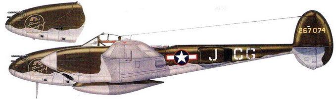 Texas Ranger- Р-38Н подполковника Джека Дженкинса из 38-й истребительной эскадрильи, конец 1943 г.
