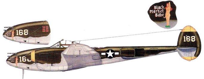 Black Market babe – P-38J капитана Билли Гришэма из 432-й истребительной эскадрильи, 1944 г.