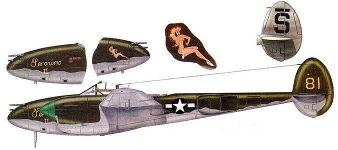 Geronimo II – P-38L из 80-й истребительной эскадрильи, Индия, 1944 г.