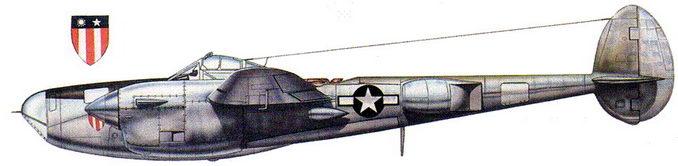P-38J Droop Snoot – личный самолет генерала Стрэйтмейера, индо-бирмано-китайский театр военных действий.