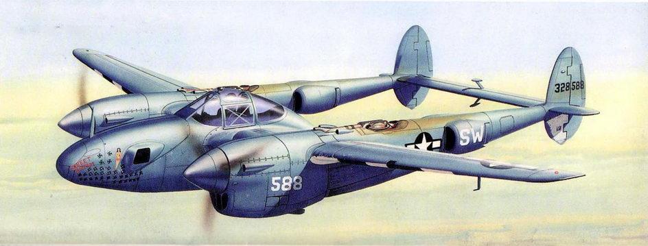F-5E капитана Арчи Брауни, 33-я Фоторазведывагельная эскадрилья, август 1944 г.