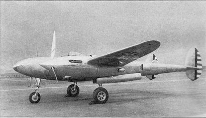 Официальная выкатка самолета XP-S8 состоялась 27января 1939г. в Марч-Филд, через 14 ч после доставки на грузовиках из Бербэнка. Виден убираемый воздухозаборник маслорадиатора в нижней части мотогондолы.