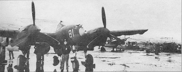 Погодные условия на острове Адбьяк были суровыми даже летом. Истребители P-38D и Р-38Е из 54-й эскадрильи летали над захваченным японцами островом Кыска. Даже покрытый металлическими перфорированными листами аэродром на Адьяке часто полностью покрывался водой и грязью.