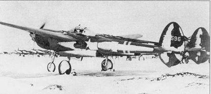 P-38F на заснеженном аэродроме Кэмп- Триполи, Исландия, ноябрь 1942 г. Ни снимке – самолет командира 50-й истребительной эскадрильи. P-38F из 1-й истребительной авиагруппы стали первыми «Лайтнигами» стали первыми американскими истребителями, перелетевшими через Атлантику, операция BOLERO по переброске «Лайтиигов» из США в Европы проводилась в июне 1942 г.