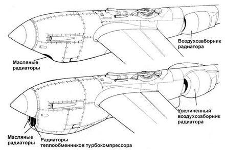 Вверху: Р-38Н Внизу: P-38J