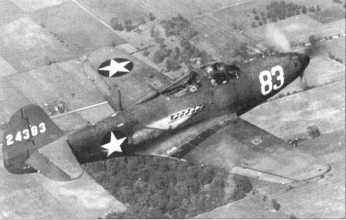 В полете Р-39К — самолет первой из четырех «средних» моделей «Кобры». Изначально самолеты заказывались как P-39G, но в конечном итоге вместо одной получилось четыре модификации, не очень сильно отличавшихся друг от друга.