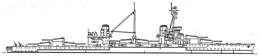 """Наружный вид линейного корабля """"Эджинкорт''. 1918 г."""