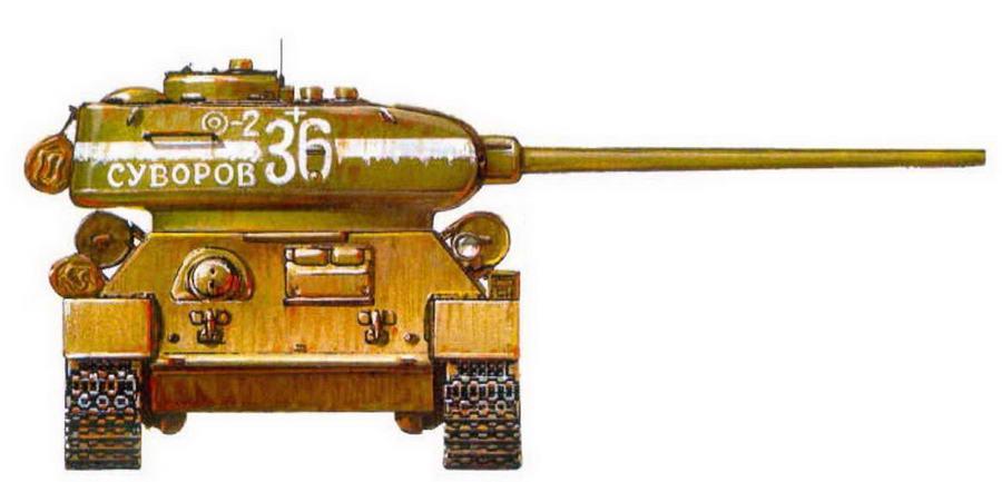 Т-34-85. 55-я гвардейская танковая бригада, 7-й гвардейский танковый корпус. Берлин, 1945 г.