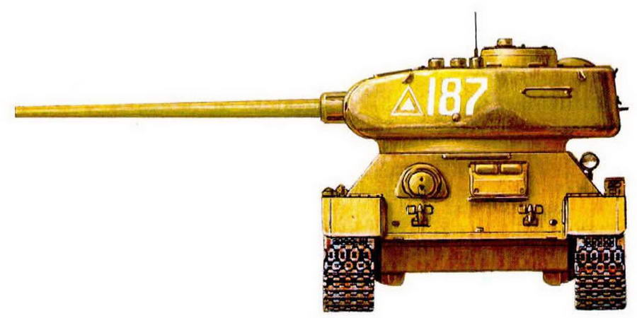 Т-34-85 Героя Советского Союза лейтенанта Б.П.Сапункова.95-я танковая бригада, апрель 1945 г.