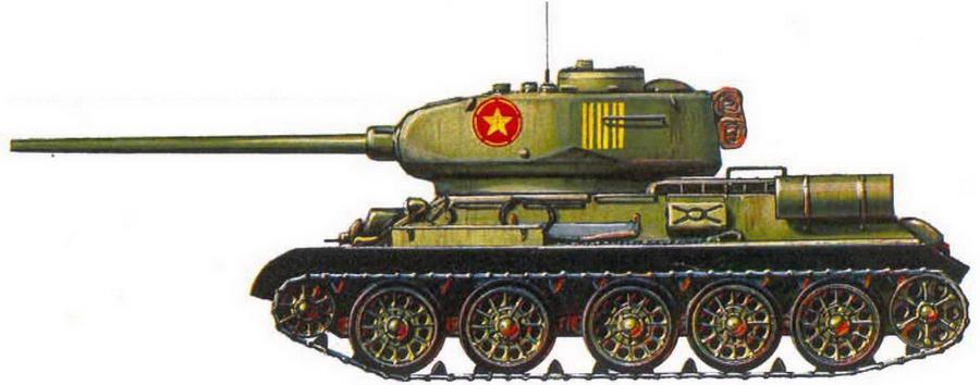 Т-34-85. 202-й танковый полк Вьетнамской Народной Армии. 1971 г.