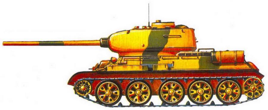 Т-34-85 иракской армии. 1982 г.