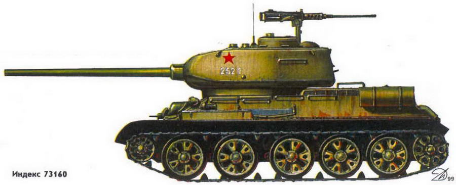 Т-34-85 Югославской Народной Армии. Хорватия, Карловац, лето 1991 г.