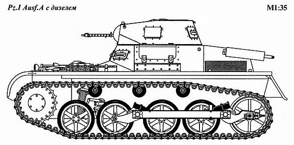 Pz.I Ausf.A с дизелем.