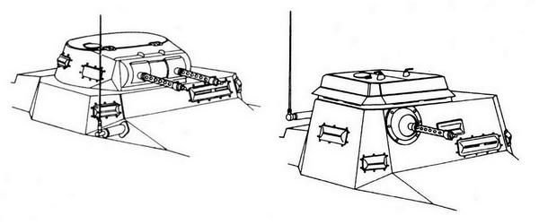 Отличия в конструкции линейного и командирского танков.