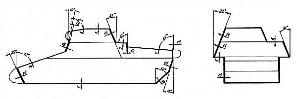 Схема бронирования лёгкого танка Pz.I Ausf.B.