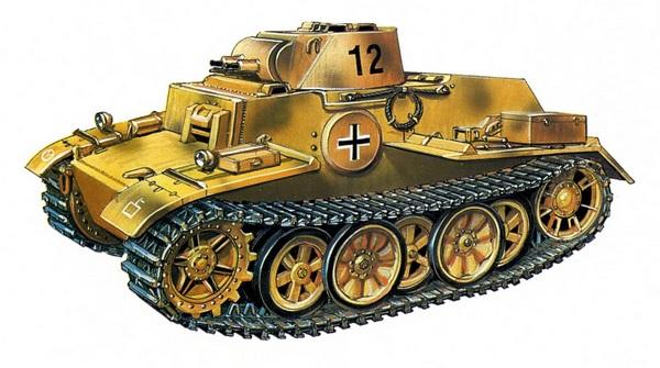 Pz.I Ausf.F. 12-я <a href='https://arsenal-info.ru/b/book/1627328415/37' target='_self'>танковая</a> дивизия (12.Panzer Division), Восточный фронт, июль 1943 года.