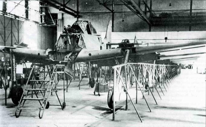 Fw 190 на стадии окончательной сборки.