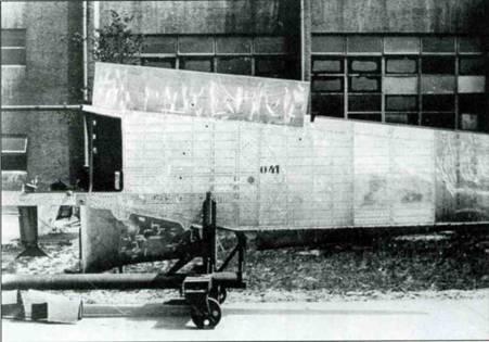 Верхняя сторона крыла ранних Fw 190A.