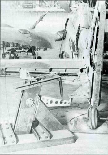 Fw 190А-0 в ходе испытаний на прочность.
