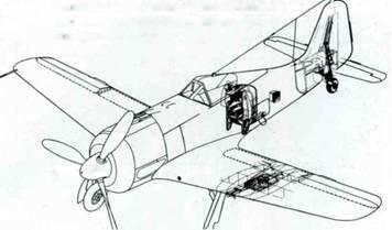 Самолеты Fw 190G-8 U новыми бомбодержателями ЕТС 503 по о крылом. Дополнительный бак в хвостовой части фюзеляжа был стандартным элементом оснащения планеров A, F и G-8.