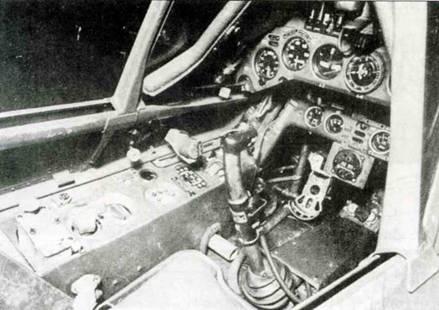 Интерьер кабины Fw 190А-3, хорошо видна левая бортовая консоль.