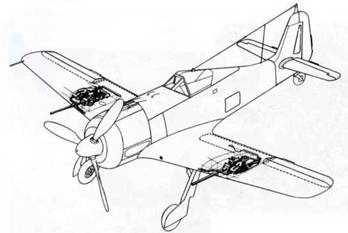 Пушки MG 151/20Е вместо MG FF впервые появились па самолетах серии А-6.