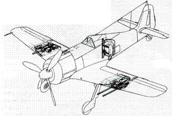 Схема расположения комплектов Ruestsatz R1, R2 и R4 ни А-6.