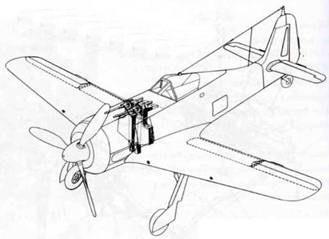 На самолетах серии А-7 пулеметы MG 17 под капотом заменили крупнокалиберными пулеметами MG 131.