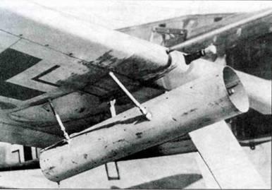 Летом 1943 года на полигоне в Тарневице проходили испытания самолета Fw 190А-3/U2, IV. Nr, 130386, вооруженного ракетами RZ 65, установленными по три в каждом крыле. На нижней поверхности крыла видны отверстия, через которых выходили газы ракет.