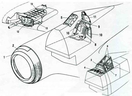 Стандартное бронирование истребителя Fw 190А-8. 1. Бронирование маслорадиатора. Толщина 6,5 мм, масса 34,7кг (для двигателя BMW 801D-2) толщина 10мм, масса 53,3кг (для двигателя BMW 801TU и A-8/R8). 2. Бронирование маслобака. Толщина 5,5 мм, масса 43,5кг (для двигателя BMW 801D-2) толщина 6,0мм, масса 52,4кг (для двигателя BMW 801TIJ и A-8/R8). 3. Основание фонаря. Толщина 15,0мм, масса 16кг (только на A-8/R7 и R8). 4. Горизонтальная пластина. Толщина 4,0 мм, масса 9,0кг (только на A-8/R7 и R8). 5. Лобовое стекло фонаря. Толщина 50мм, масса 14,6кг. 6. Боковые стекла фониря. Толщина 30 мм, масса 8,0кг (только на A-8/R7 и R8). 7. Треугольные пластины. Толщина 4,0 мм, масса 13,5кг (только на A-8/R7 и R8). 8. Бронеспинка кресла пилота. Толщина 8,0мм, масса 18,2кг. 9. Бронсплпта за креслом пилота. Толщина 5,0 мм, масса 5,9кг. 10. Бронеплиты на шпангоуте №5. Толщина 5,0 мм, масса 7,9кг. 11. Бронированное изголовье кресла пилота. Толщина 12,0 мм, масса 13,0кг, толщина 20,0 мм, масса 20кг (для А-8/ R8). 12. Бронирование боекомплекта пушки МК 108 (только на A-8/R8). Толщина 20 мм, масса 21кг. 13. Бронирование боекомплекта пушки МК 103 (только на А- 8/R8). Толщина 4,0 мм, масса 9,0кг.