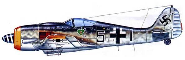 Fw 190A-8, III./JG 54, Германия, 1944 год.