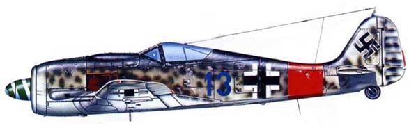 Fw 190A-8, командира JG 300 майора Вальтера Даля. Германия, осень 1944 года.