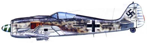 Fw 190A-8/R6, Stab./.JG 26, лето 1944 года, Германия.