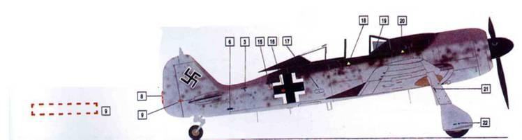 Перевод эксплуатационных надписей на обшивке Fw 190