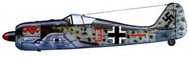 Fw 190A-3, 5./JG 3 «Udet», 1943 год.