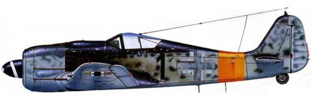 Fw 190A-7/R2, W.Nr. 07169, «1», самолет командира 2./JG 11.