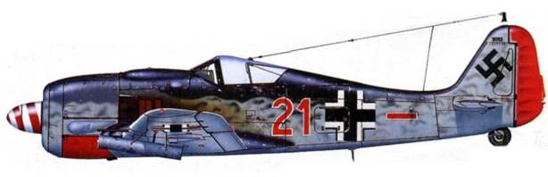 Fw 190A-7/R6, 5./JG 1 «Oesau», осень 1943 года.