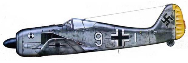 Fw 190А-2, 7./JG 2, Франция, 1942 год.