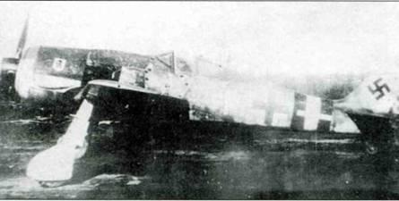 Fw 190A-8/R8, W.Nr. 681497 из 5./JG 4, пилот ефрейтор Вальтер Вагнер, совершил вынужденную посадку на базе Сен-Тронд во время операции «Боденплятте», 1 января 1945 года.