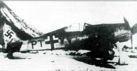 Fw 190А-9, W.Nr. 2568, PT+VY, зима 1944/45г.г., неизвестная часть.