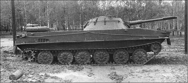 Танк ПТ-76 выпуска 1954 года с частично выполненным объемом работ по модернизации периода 1955–1964гг.