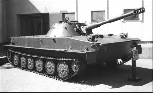 Танк ПТ-76 выпуска после ноября 1955 года, частично модернизированный в 1956–1959 годах.