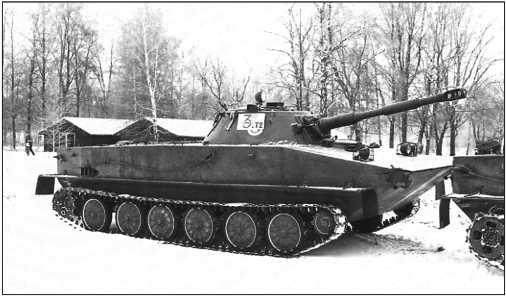 Танк ПТ-76 выпуска 1957 года.
